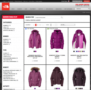 Search on The North Face for Purple Winter Jacket